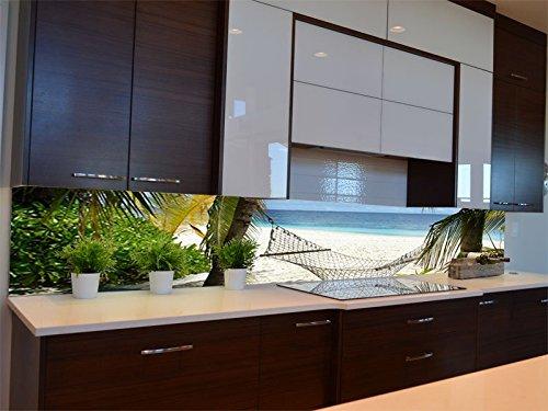 Dalinda® Küchenrückwand Küchenboard Küchenrückseite mit Design Südseetraum KR117