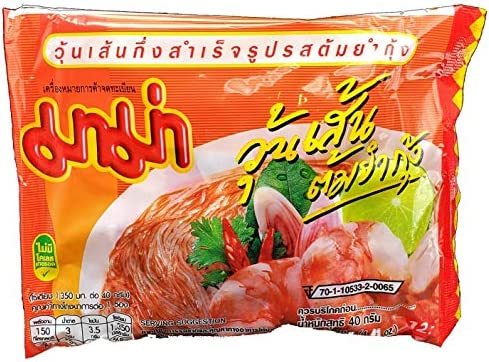 MAMA Bean Vermicelli Tom Yum Koong Shrimp Flavor Oriental Style Instant Ramen 10 Pack product image