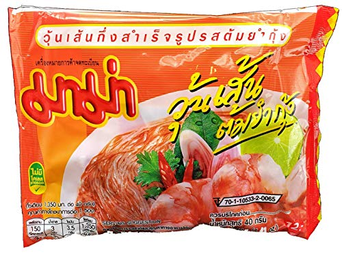 MAMA Bean Vermicelli Tom Yum Koong (Shrimp) Flavor Oriental Style Instant Ramen (10 Pack)