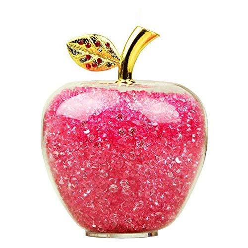 Cuarzo Manzana Manzana Pequeño,Manzana para decoración del hogar, Adorno de Coche, Figura Decorativa en Miniatura, Regalo de Recuerdo