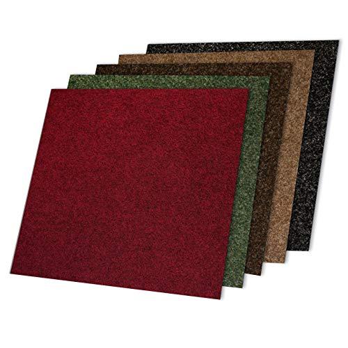 Floori Teppichfliesen Jazz Set - Grün - Premiumklasse (2,5kg/m², antistatisch, bitum)
