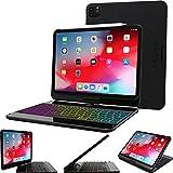 Snugg iPad Pro 12.9 Keyboard Case (2021-5th Generation), Wireless Backlit Bluetooth Keyboard Cover 360° Degree Rotatable Keyboard for Apple iPad Pro 12.9 (2021) - Black