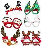 Christmas Glasses | Christmas Favors for Holiday Christmas Party | Christmas Headwear (6) ...
