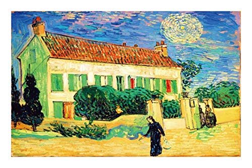 Puzzle World Masterpiece Jigsaw Van Gogh Impressionist Oil Painting House 500/1000/1500 Adult Children Unique Cut Interlocking Pieces Fit Together Perfectly (Size : 500pcs )