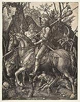 Albrecht Durer ジクレープリント キャンバス 印刷 複製画 絵画 ポスター (騎士の死と悪魔) #XFB