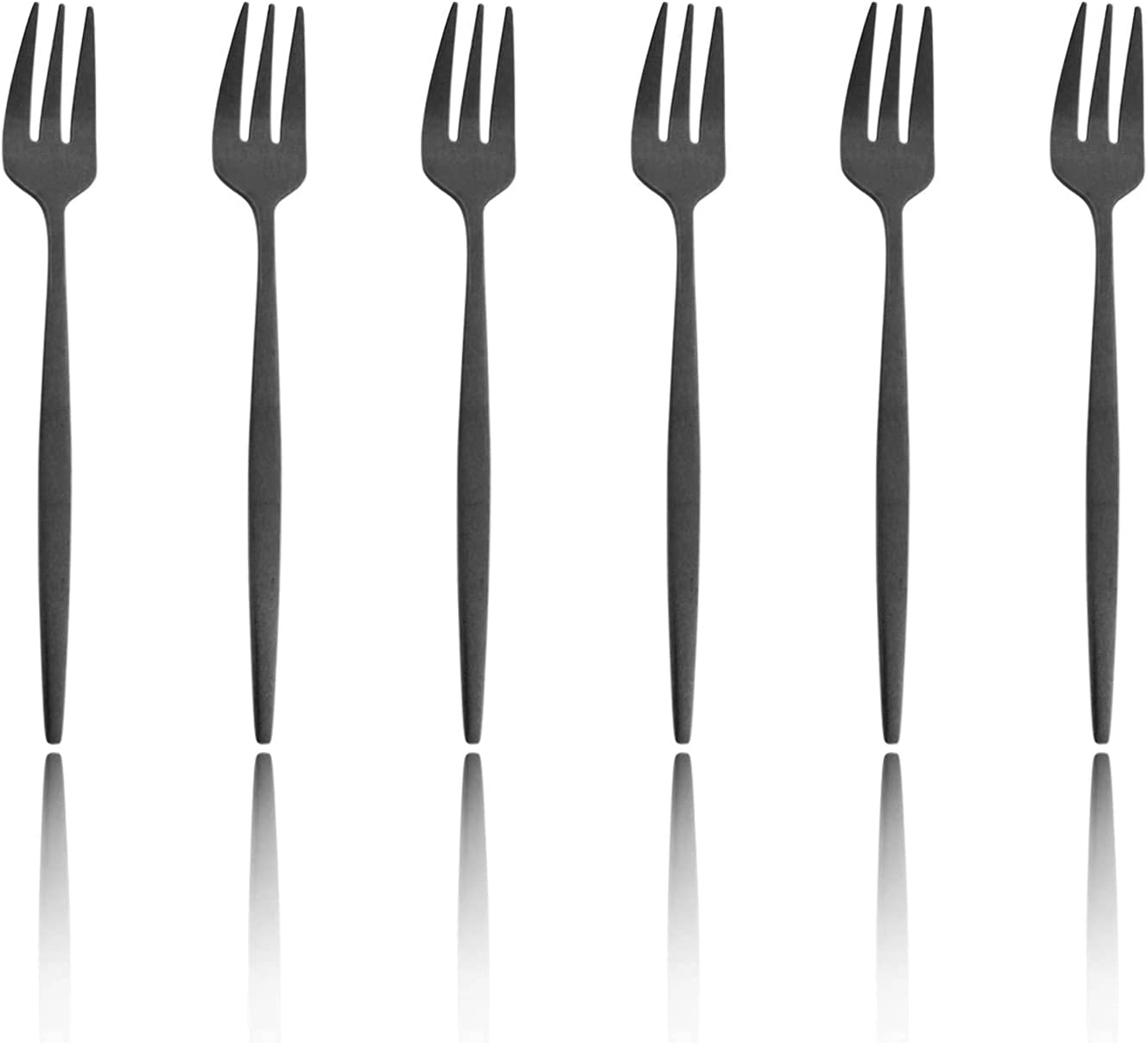 JANKNG 6 Max 70% OFF Pieces Stainless Steel Max 62% OFF Fruit Dessert Cake Fork 3-tine