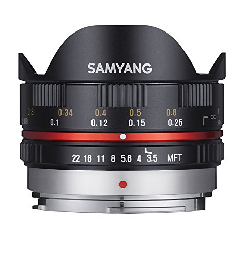 Samyang 7,5/F 3,5 UMC Fish-Eye MFT - Objetivo fotográfico para Micro Cuatro Tercios, Negro