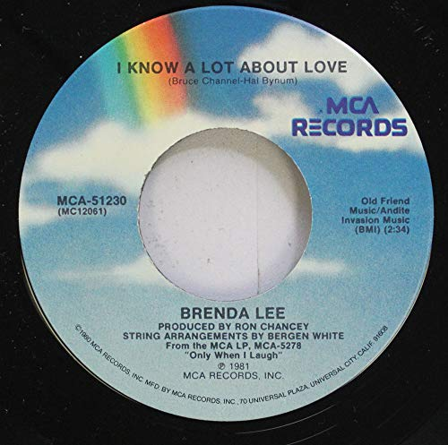 Brenda Lee 45 RPM I Know A Lot About Love / From...