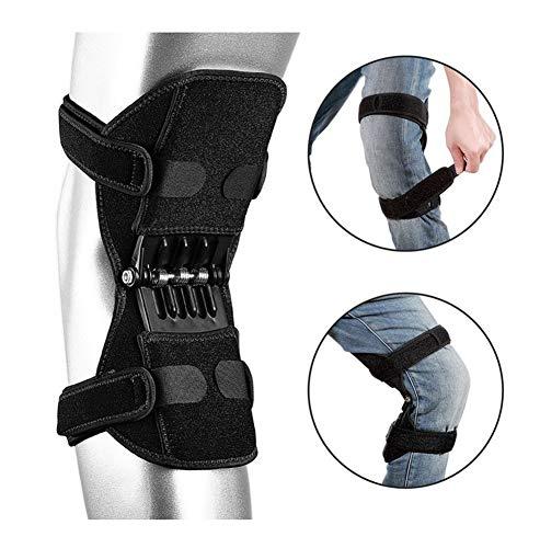 TYH Knee Support Booster, Potente Forza di richiamo della Molla, Cuscinetti di decompressione di Protezione articolare Deep Care per Alpinismo, Nero,1Pcs