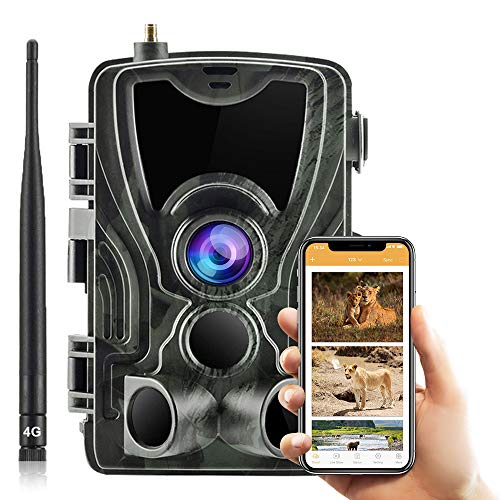 SUNTEKCAM Cámara de Caza 4G 3G 2G 20MP 1080P IP65 Impermeable 36 LED de IR Invisible 2.4    LCD Visión Nocturna hasta 20m para Fauna Seguridad Hogar Mascota Animal aplicación de Uso de 801LTE Plus