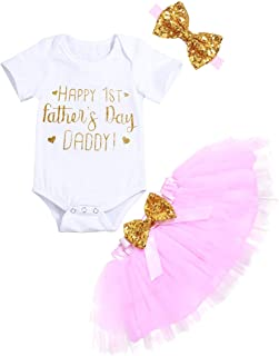 Itkidboy Newborn Baby Girl Clothes Ruffle Romper+ Floral Tulle Tutu Skirt 2pcs Outfit