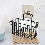 PPuujia Cesta de fregadero fregadero hierro cocina escurridor cesta paño de limpieza detergente esponja estante de almacenamiento accesorios cocina cocina estante organizador