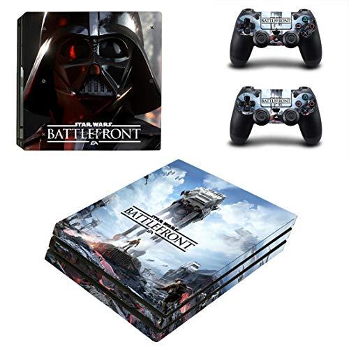 PS4 Pro Star Wars Battlefront Konsole Skin Aufkleber Vinyl Sticker Faceplate Konsole und 2 Controller Schutzhülle für PlayStation 4 PRO