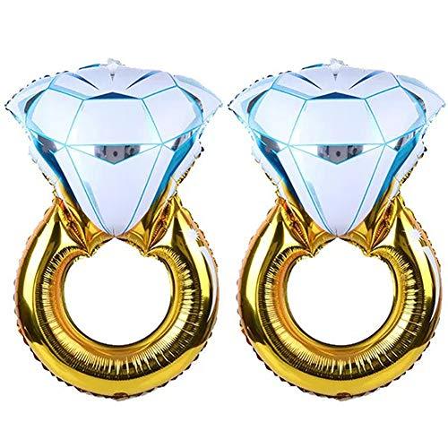 Tellpet Bachelorette Party Decorations Engagement Party Decorations, Diamond Ring Balloon, 2 pieces