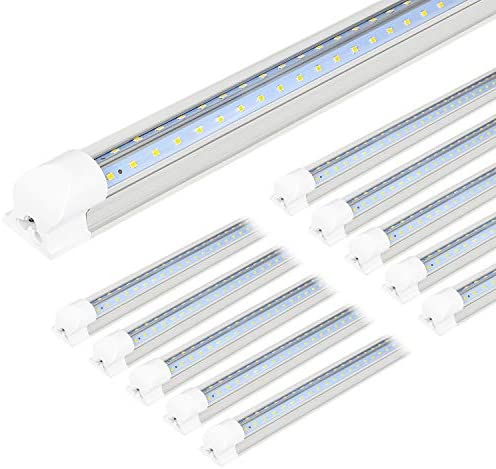 10 Pack 4FT LED Shop Light 40W 5200LM 6500K Super Bright White V Shape Integrated T8 LED Tube product image