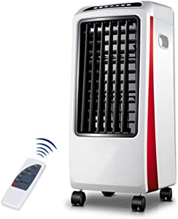 Móviles Evaporativos Ventiladores Control Remoto Aire Acondicionado Ventilador Solo Sonido Frío 7L Tanque De Agua 7.5H Temporizador 3 Velocidades 3-Wind Pequeño Ventilador De Aire Frío Para Uso Domést