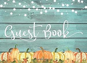 pumpkin wedding guest book