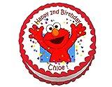 Elmo Sesame Street Round Edible Cake Image Cake Topper