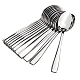 Kodenipr Club Stainless Steel Dinner Tea Spoon Set (Small, 12 Pieces)