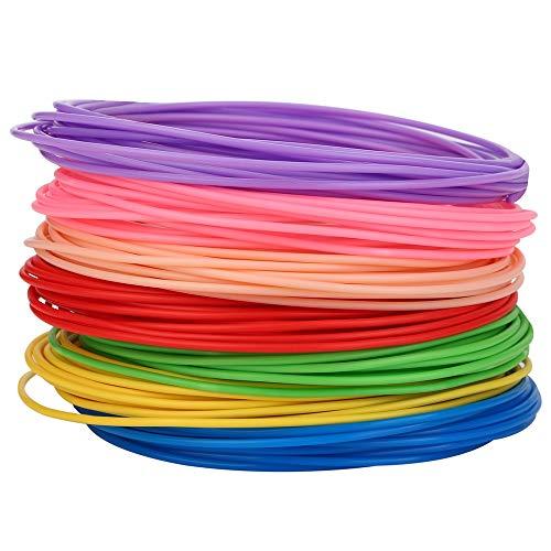 FAN-MING-N-3D, filamento in plastica PLA ABS PCL da 1,75 mm per Penna 3D, 20 Colori, 5 Metri, Confezione sottovuoto 50m 10colors ABS