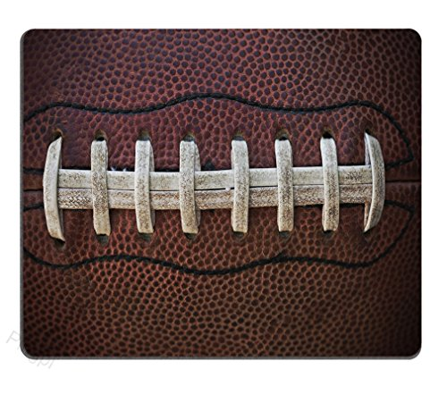 Sports Mouse Pad, American Football Themed Fun Traditional Sport Close Up Photo Pattern Mouse pad Gaming Mouse pad Mousepad Nonslip Rubber Backing