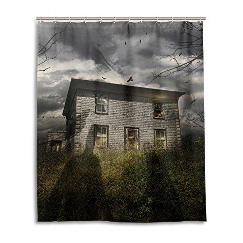 Bad Vorhang für die Dusche 152,4x 182,9cm Gothic Dark Cloud Sky Ghost Castle Polyester-Schimmelfest-Badezimmer Vorhang
