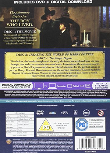 Harry Potter and the Philosopher's Stone [Year 1] [2016 Edition 2 Disk] [DVD] [2001]