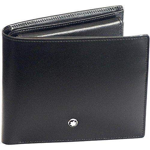 MST Wallet 10cc Coin Case Black Material impermeable Diseño elegante y cómodo de llevar Todos nuestros productos están identificados con un emblema Montblanc Tamaño: 11,5 x 9,5 x 2