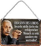 """Blechschilder Albert Einstein Zitat Spruch """"Der Sinn des"""