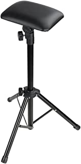 Tattoo Tripod Stand Arms, KANING Foldable Adjustable Sponge Pad Tattoo Armrests PVC Leather Stands Studio Chair Stand