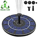 Viajero Latest Upgrade 2.5W Solar Fountain Pump for Bird Bath with 800mAh Battery Backup,...