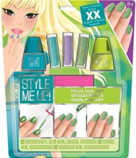 Style Me Up - Manicure Set for Girls - Kids Nail Polish - Pearls for Kids Nail Art - Creative Kits for Girls - SMU-1653