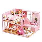 kioski Dreidimensionale Montage Dachgeschoss Miniaturhaus DIY Puppenhaus mit Musik Bewegung für...