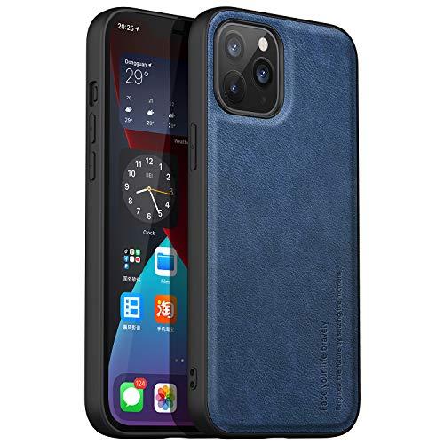 anccer Compatible con la Funda iPhone 12 Pro MAX, Funda de Cuero Suave de TPU [Ultrafino] [Anticaída] Fit Premium Material Slim Cover para iPhone 12 Pro MAX 6.7 Inch (Caballero Azul)
