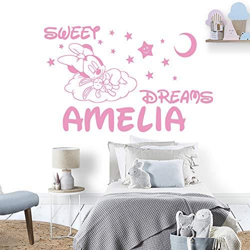 Anime Cartoon benutzerdefinierte Name Maus Wandaufkleber Dekoration Kindergarten Zimmer Kinder Baby Zimmer Dekoration Aufkleber Aufkleber Schlafzimmer Wandbild 84x132cm