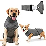 Coppthinktu Dog Recovery Suit for Abdominal Wounds or Skin Diseases, Breathable Dog Surgery Recovery Suit for Dogs, E-Collar Alternative After Surgery Wear Anti Licking Wounds. (Gray XL)