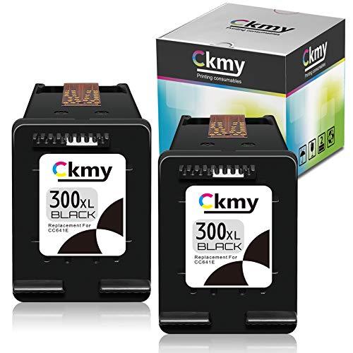 CKMY Remanufactured for HP 300 XL 300XL Cartucho de Tinta (2 Negro) per HP PhotoSmart C4680 C4780 DeskJet F4580 F2480 F2400 F2420 F4280 F4500 D5560 Envy 100 F4500 C4780 120 D1658 D2645 D2645 D2663