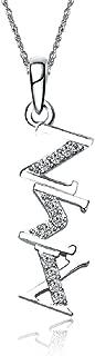 Zeta Sigma Chi Diagonal Silver Necklace with a 18