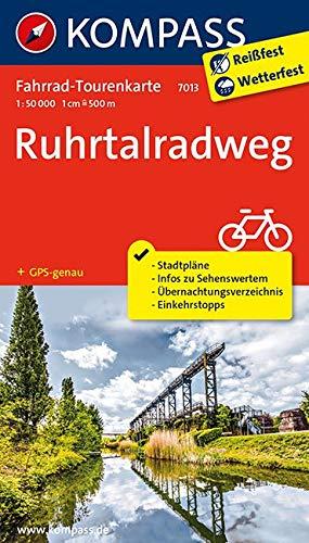 Fahrrad-Tourenkarte Ruhrtalradweg: Fahrrad-Tourenkarte. GPS-genau. 1:50000. (KOMPASS-Fahrrad-Tourenkarten, Band 7013)