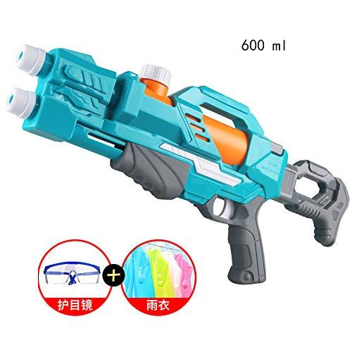 HPYR Pistola de Agua para niños-600CC de Alta Capacidad y Campo de Tiro de 19-26 pies, 2 boquillas, Piscina al Aire Libre, Playa, diversión acuática para niños y Adultos-Lightgreen