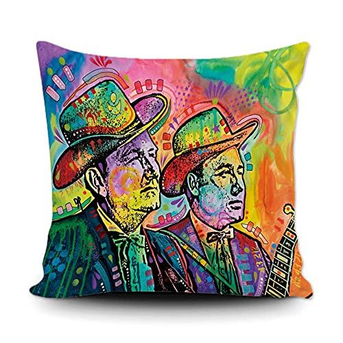 Flatt & Scruggs - Funda de almohada decorativa de lona para el hogar, 50,8 x 50,8 cm