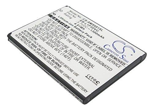 CS-SMS681SL Batteria 1300mAh compatibile con [SAMSUNG] Galaxy Ace Duos, Galaxy Fame, Galaxy Fame Lite, GT-S6790, GT-S6790N, GT-S6810, GT-S6810P sostituisce EB-L1P3DVU, GH43-03668C