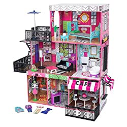 ENDLESS HOURS OF FUN - This vibrant and modern dollhouse is a child's dream home offering 3 floors, 6 rooms, and 2 outdoor areas. This play set stands at 106.05cm tall and is made from high-quality wood DESIGN YOUR OWN HOME - Let your child's creativ...
