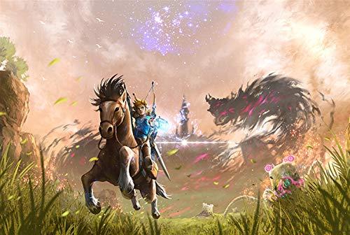 Puzzle 300/500/1000 La leyenda de Zelda juego de rompecabezas rompecabezas de madera Super Hard alta descompresión for adultos dificultad animado Rompecabezas Descompresión anime de dibujos animados
