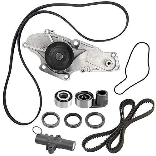 TKH-002 Engine Timing Belt Kit with Water Pump,for 2003-2013 Acura MDX TL RL ZDX TSX RDX Honda Accord Odyssey Pilot Ridgeline Saturn Vue 3.0L 3.5L 3.7L SOHC V6 Replace TCKWP329 TKH-002 TKH002