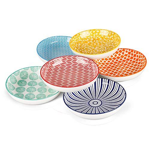 KitchenTour Porcelain Salad Pasta Soup Bowls - Large Serving Bowl Set 26 Ounce - Set of 6
