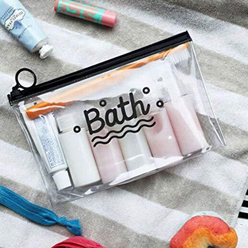 Make-up Taschen Kulturtaschen Travel Cosmetic Bags PVC wasserdichte transparente Frauen Tragbare Schminktasche Toilettenartikel Organizer Aufbewahrung Schminktasche Waschbeutel S B