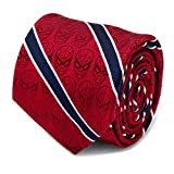 Spider-Man Red and Navy Stripe Men's Tie