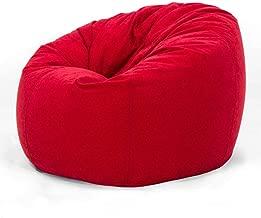 Comfy Large Seude Bean Bag-red
