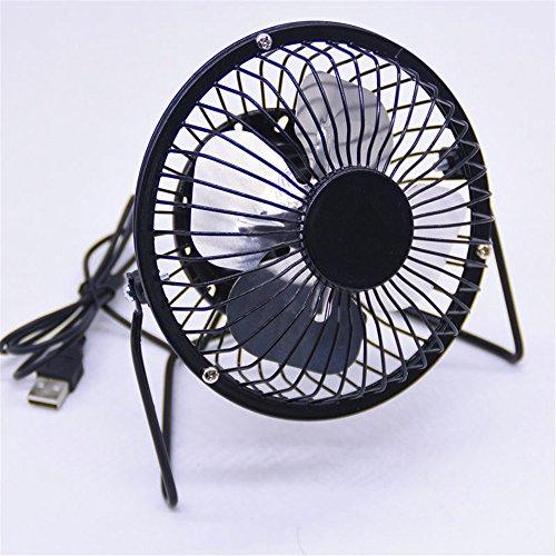 Mini ventilatore USB cartoon mini ventilatore, nero
